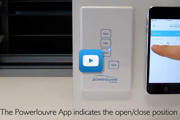 Breezway Powerlouvre Apptivate control demonstration