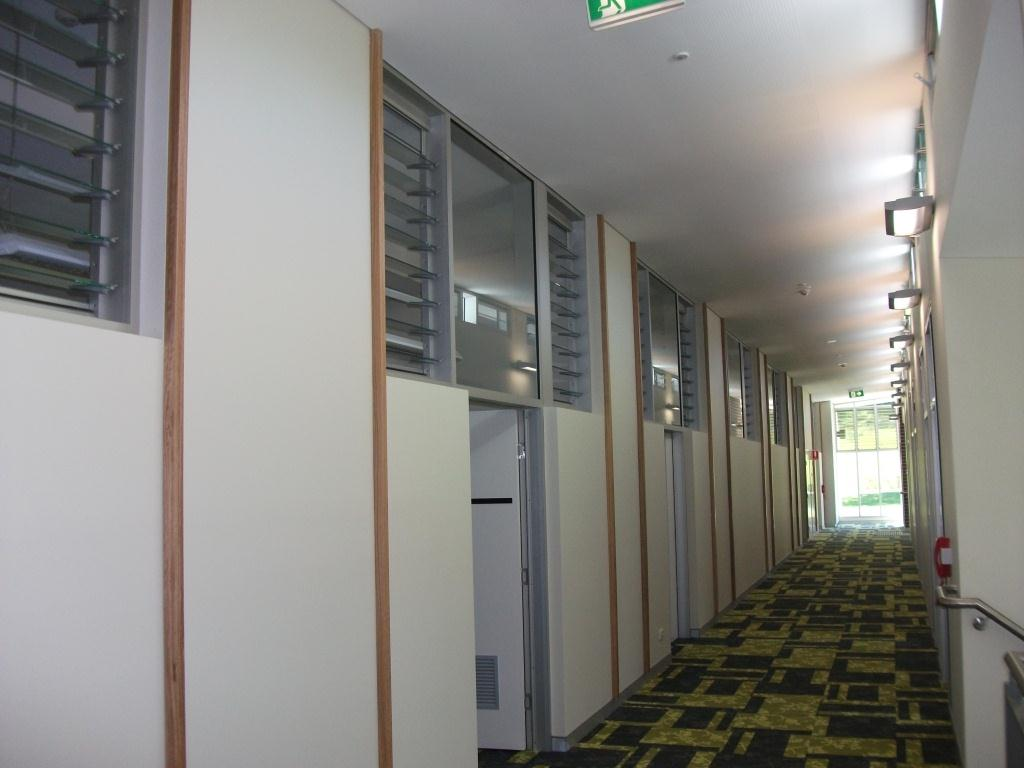 Altair Louvres can be installed above doors so rooms can be kept private while still allowing air in.