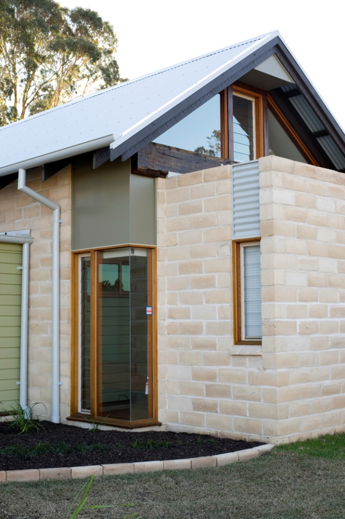 Small louvre windows in timber frames are good for colder climates