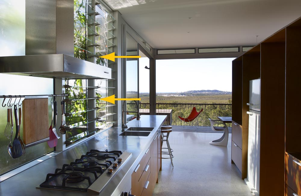 Louvres in Kitchen