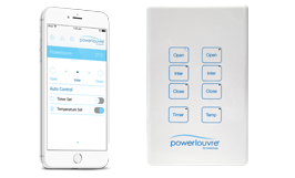 <strong>Powerlouvre</strong><p>Powerlouvres can be operated by the Apptivate Control Unit, Powerlouvre App or Building Management System.</p>
