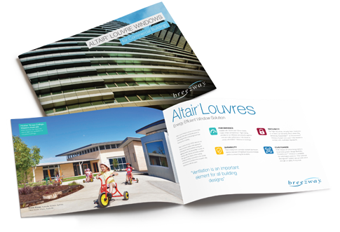 Breezway brochure for louvre windows in commercial applications