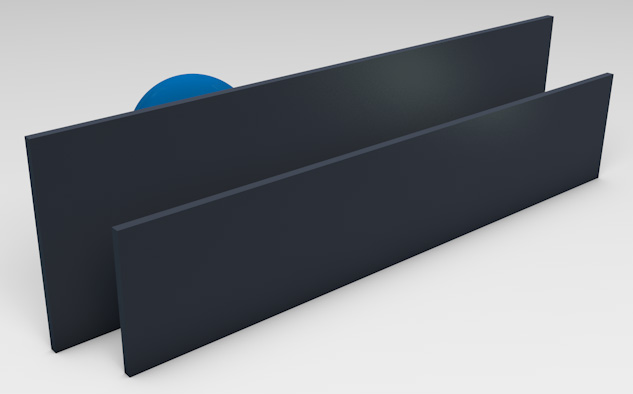 <strong>Powder Coated Aluminium</strong><p>Provides privacy with ventilation. (Deep Ocean Matt finish displayed).</p>